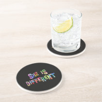 She Is Different Autism Awareness Autistic Coaster