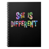 She Is Different Autism Awareness Autistic Notebook