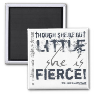 She Is Fierce 2 Inch Square Magnet