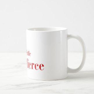 she-is-fierce-bod-brown.png classic white coffee mug