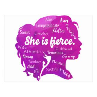 She is Fierce Postcard
