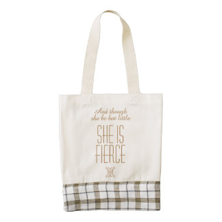 She is Fierce Shakespeare Zazzle HEART Tote Bag