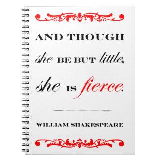 She is Fierce Spiral Notebooks