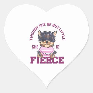 SHE IS FIERCE HEART STICKER