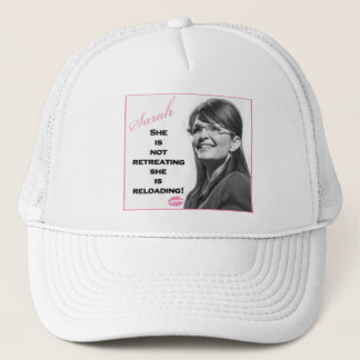 She is not retreating, she is reloading trucker hat