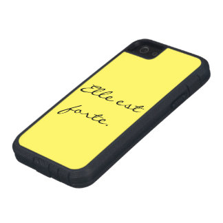 """She Is Strong""/""Elle est forte"" Iphone 5 case"