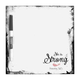 She is Strong Proverbs 31 Dry-Erase Board