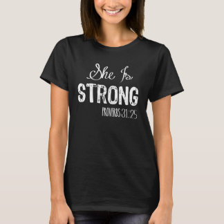 She Is Strong Women's Christian Shirt