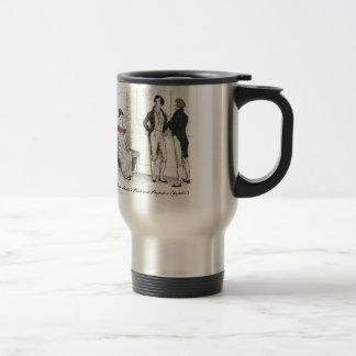 She is tolerable ... Jane Austen P&P CH3 Travel Mug