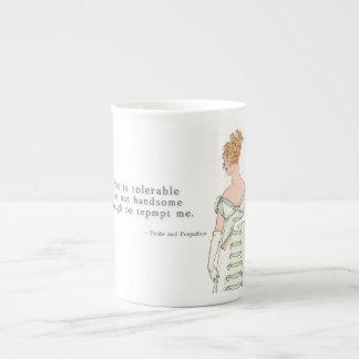 She is tolerable - Pride & Prejudice Tea Cup