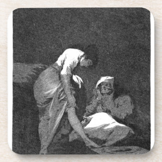 She is well pulled down by Francisco Goya Coaster