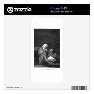 She is well pulled down by Francisco Goya Decals For The iPhone 4