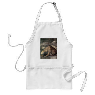 She Kissed the Bear's Nose Adult Apron