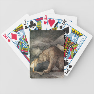 She Kissed the Bear's Nose Bicycle Playing Cards