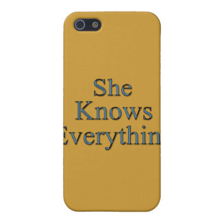She Knows Everything blu Case For iPhone SE/5/5s