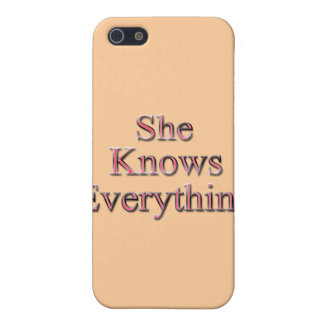 She Knows Everything red iPhone SE/5/5s Case