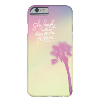 She Laughs Vintage Palm Sunset Proverbs 31:25 Barely There iPhone 6 Case