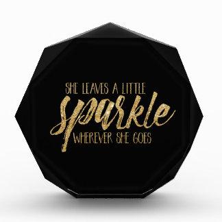 She Leaves A Little Sparkle Acrylic Award