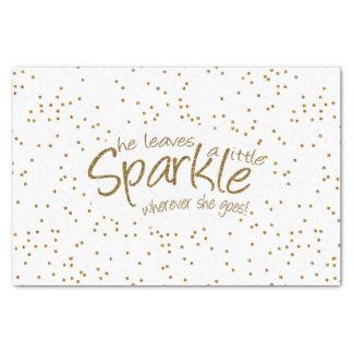 She Leaves a Little Sparkle Gold Design Tissue Paper