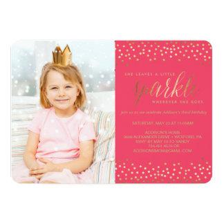 She Leaves a Little Sparkle KIDS BIRTHDAY INVITE
