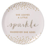 She Leaves a little Sparkle™ Plate