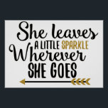 """She leaves a little sparkle poster<br><div class=""""desc"""">A wonderful gift or print for the lady or girl in your life who needs to be reminded of her sparkle.</div>"""