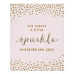She Leaves a Little Sparkle - Premiumd Canvas Poster