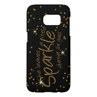 She Leaves a Little Sparkle Samsung Galaxy S7 Case