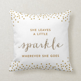 She Leaves a Little Sparkle Throw Pillow