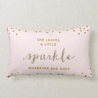 She Leaves a Little Sparkle™ Throw Pillow
