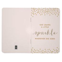 She Leaves a Little Sparkle Wherever She Goes Jour Journal