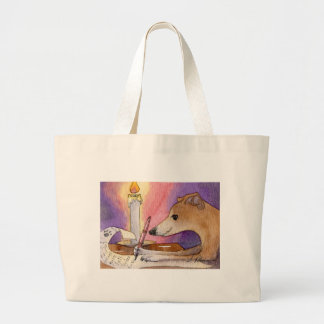 She liked to write her Xmas list early Canvas Bags