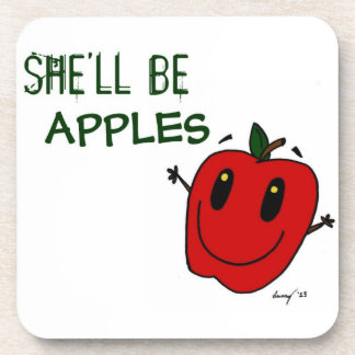 SHE LL BE APPLES Coasters - Set of 6