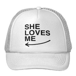 She loves me (left).png trucker hat
