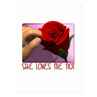 She Loves Me Not Gifts Postcard