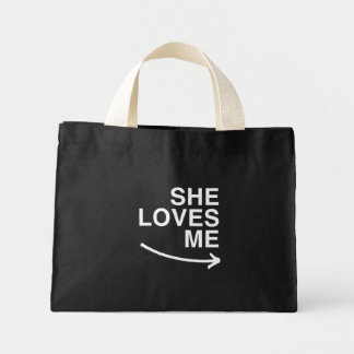 She loves me (right) -.png tote bag