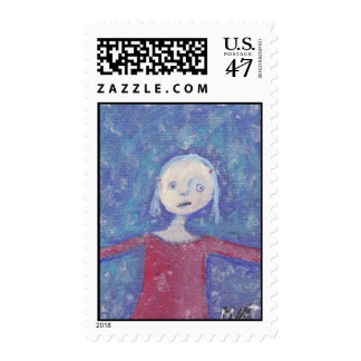 She Loves To Dance In The Rain Postage Stamp