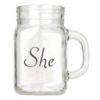 She Mason Jar