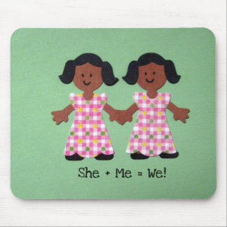 She + Me = We Mouse Pad