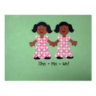 She + Me = We Postcard