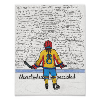 She Persisted (Athlete) Poster