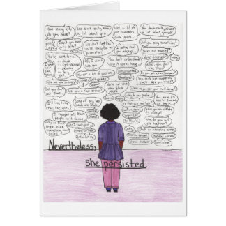 She Persisted (Black) Card