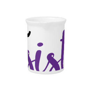She Persisted (black/purple) Beverage Pitchers
