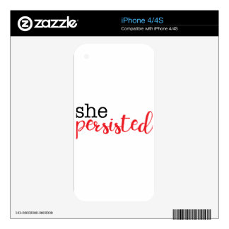 She Persisted (black/red) Decal For iPhone 4