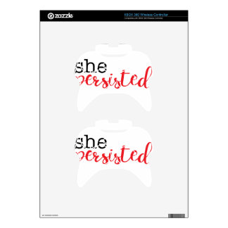 She Persisted (black/red) Xbox 360 Controller Skins