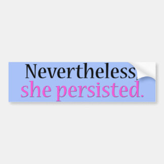 She persisted bumper sticker (blue)