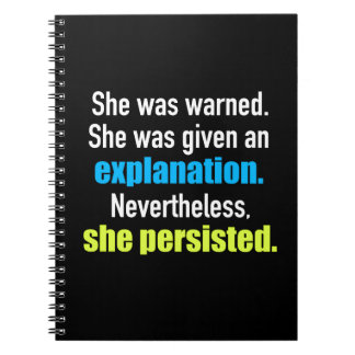 She Persisted Elizabeth Warren Notebook