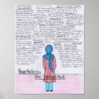 She Persisted (Hijabi) Poster