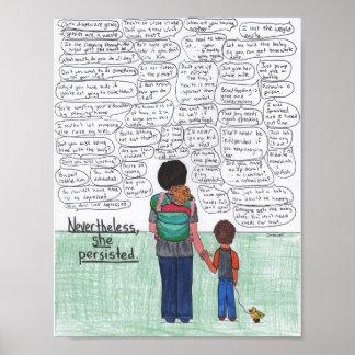 She Persisted (Motherhood) Poster