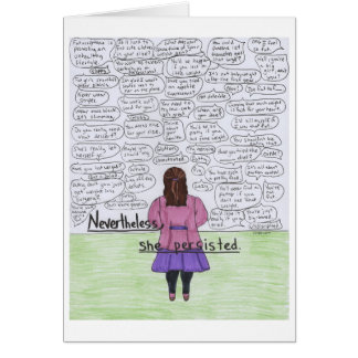 She Persisted (Plus-Size) Card